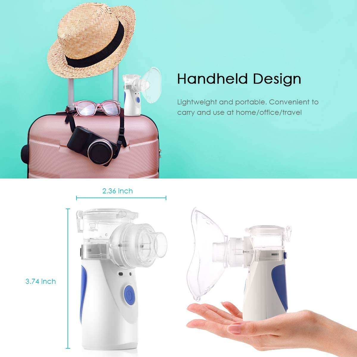 Portable Ultrasonic Nebulizer for Inhalation